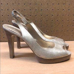 Jessica Simpson Slingback Peep Toe Heels sz 8.5